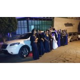 Aluguel de limousine para casamento quanto custa na Chácara Santa Maria
