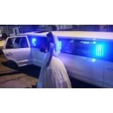 Aluguel de limousine para casamento valor na Vila Eutália