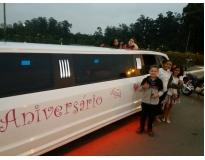 serviços de aniversário infantil na limousine na Vila Salete