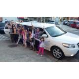 Limousine para aniversário infantil preço acessível em Silveiras
