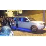 Limousine para aniversário infantil preço na Fazenda Caguaçu