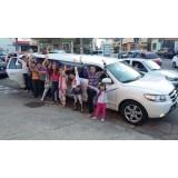 Limousine para aniversário infantil preço  na Vila Progresso