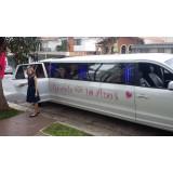 Limousine para aniversário preço na Vila Jaguari