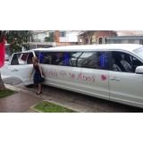 Limousine para aniversário valor no Jardim Fernandes