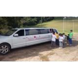 Limousine para festas de aniversário valor acessível  na Vila Dalila