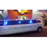 Limousine preço na Chácara do Encosto
