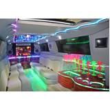 locação de limousine festa preço Jardim Magali