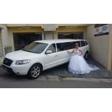 Locação de limousine para casamento na Chácara do Rosário