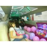 onde encontrar locação de limousine rosa para festa infantil na Vila Henrique