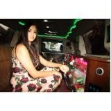 quanto custa locação de limousine aniversario Monte Santo