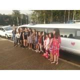 quanto custa locação de limousine para festa de aniversário na Vila Robertina