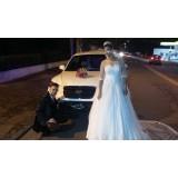 Serviço de limousine para casamento preço  na Vila Melo